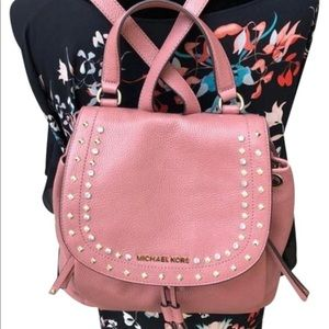 Michael Kors Riley Large Pink leather backpack